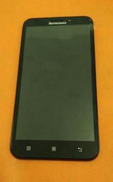Utilizzato Display LCD originale + Touch Screen + Frame per Lenovo A916 MTK6592 Octa Core 5.5
