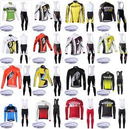 scott manga larga ciclismo Rebajas Conjuntos de camisetas de ciclismo Conjunto de equipos de lana de invierno Equipo Pro de Scott Ropa de ciclismo Ropa Ciclismo Conjunto de manga larga Gel Pad Ropa de bicicleta j102701
