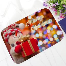 tapis de sol décoratif Promotion Décoratif De Noël HD Imprimé Non-Slip Tapis De Bain Absorbant Imperméable À La Maison Décor À La Maison Paillasson Tapis De Sol Chambre Flanelle Tapis 40 * 60 cm