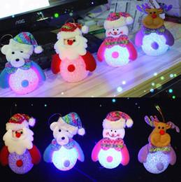 Éclairage d'arbre mené en Ligne-Ornement de Noël lumière avec led bonhomme de neige Noël Père Père Deer Bear nuit lumière enfants jouets cadeaux de Noël arbre pendentif lumières