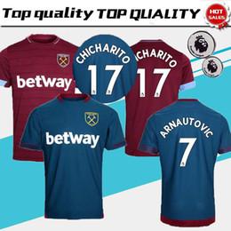 2018 2019 West Ham United Jersey Men Soccer 17 Javier Hernandez 17  CHICHARITO 10 LANZINI 16 NOBLE Football Shirt Kits Uniform Red Blue 79fea7a1c
