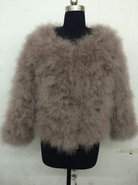 02f8557343335 Wholesale-LET-SETTING 18 colors fashion sexy Ostrich turkey fur wool coat  feather fur short jacket sexy faux fur coat on sale