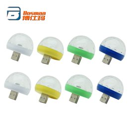 Оптовая BOSMAA Mini USB RGB LED декоративные атмосфера свет авто интерьер автомобиля клуб диско магия этап эффект лампы от