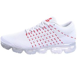 Wholesale Women Big Sizes - PU VaporMax 2018 Men Running shoes For mens Sneakers PVC Women Sport Shoes Top quality Outdoor Sports Sneakers Big US 13 size Eur 47