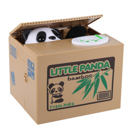panda box piggy bank Coupons - Wholesale Viskey Cute Stealing Coin Cat Money Box Piggy Bank, Panda For Kids Birthday Gift High Quality Hot Sale