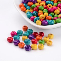 Wholesale Wholesale Handmade Goods - Good Wood Bead Mixed Color Wooden Round Beads 10mm Yiwu Spacer Beads Mixed Accessories Diy Multicolor Kids Handmade