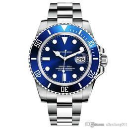 Deutschland AAA Hohe Qualität Original Box Submarin Diver Luxury Brand Leucht Saphir Edelstahl 40mm Automatische Mechanische Männer Sport Armbanduhr Versorgung