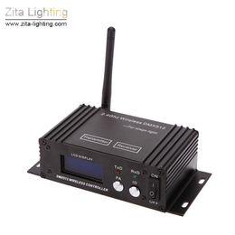 Lumières de scène lcd en Ligne-2 Pcs / Lot Zita Éclairage Sans Fil DMX 512 Éclairage de Scène 2.4 G Émetteur Récepteur LCD Affichage Puissance Réglable Répéteur Contrôleur D'éclairage