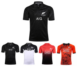 Wholesale Clothing Stops - All Blacks 2017 Special Edition Tour Jersey All Black 2017-18 Play clothes red home and away Rugby Jersey shirt male size S-3XL Free Shippin
