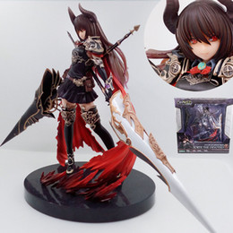 Wholesale Knight Toy - 24cm GENESIS Rage of Bahamut Black Dragon Knight PC Webgame action figure Toy Collection boy gift Moveable Movie electronic pet