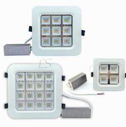 Яркая светодиодная панель онлайн-CREE 12W / 18W / 32W / 50W Светодиодные потолочные светильники High Bright Led Утопленная панель Освещение кухни AC 110-240V + Водонепроницаемые драйверы