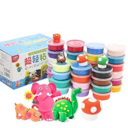 Wholesale Learning Lights - 12 24 36pcs Ultra-light Clay Plasticine Set DIY Soft Creative Handgum Toys DIY Plasticine Clay Learning Toys