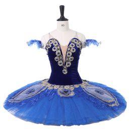 2019 trajes de aves azuis Vestido de tutus de balé profissional Coppelia Royal Blue Bird orsaire Raymonda Princesa Florina Panqueca Clássica Tutu Traje trajes de aves azuis barato
