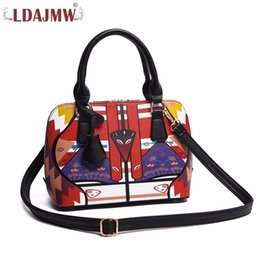 Wholesale Fashion Nation - New Arrival PU Leather Nation Wind Women Fashion Handbag Female Casual Bags Ladies Portable Shoulder Bag Totes Purse