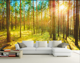 chinese scenery painting Promo Codes - 3d Wallpaper Mural Wall Painting Woodland scenery Photo Wallpaper High Quality 3D Stereoscopic 3D Wallpaper Custom
