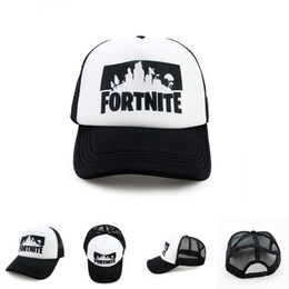 Wholesale cool fan design - Fortnite 3D Print Baseball Caps 2 Designs New Game Fortnite Fans Cool Mesh Caps Hip-pop Streetwear Snapback Summer Trucker Caps LA786