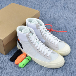 Wholesale Blazer Shoes - 2018 OFF- X THE 10 BLAZER STUDIO MID Air Shoes, White Blazer Mid Men Running Sneakers With Original Box 40-45
