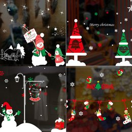 Wholesale Indoor Wallpaper - Merry Christmas Snow Christmas Snowman Decoration Bedroom Multi-piece Package Christmas socks Wall Stickers Wallpaper