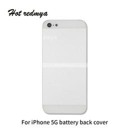 Canada Coque de protection arrière pour iPhone 5 5G 5S 5SE batterie complète Cache de protection porte arrière batterie Gris argenté Couleur de remplacement Offre