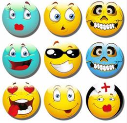 Wholesale Funny Christmas Decor - Cute 30MM Emoji Expressions Fridge Magnet Funny Emoji Glass Magnetic Refrigerator Stickers Note Holder Home Decor Christmas