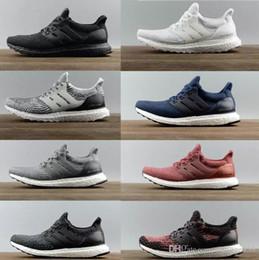 2019 botas r2 Zapatillas de correr Ultraboost 3.0 4.0 de alta calidad para hombre, mujer, Ultra Boost 3.0 III Primeknit Runs, zapatillas deportivas negras, blancas, 36-47