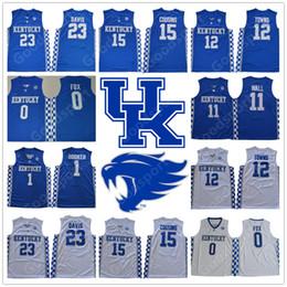 Wholesale fox jerseys - 2018 Kentucky Wildcats COLLEGE NCAA Aaron Fox 0 Devin Booker 1 Anthony Davis 23 jerseys DeMarcus Cousins 15 JONH WALL 11 Towns 12