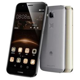 Huawei 5.5 32gb en Ligne-Remanié d'origine Huawei G7 Plus 4G LTE 5.5 pouces Octa Core 2 / 3GB RAM 16 / 32GB ROM 13MP Caméra Dual SIM Android Mobile Téléphone portable DHL 10pcs