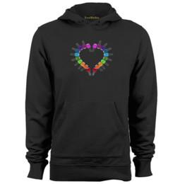 Wholesale Hearts Nail Designs - Nail Polish Heart Mens & Womens Unique Design Hoodies Sweatshirts