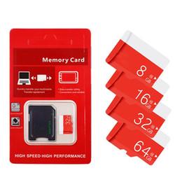 Carte sd 32gb livraison gratuite en Ligne-16GB 32GB 64GB 80MB / s Class10 TF Carte mémoire flash avec adaptateur SD gratuit avec la vente au détail au détail