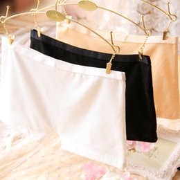 Wholesale Cotton Boxer Shorts Seamless - Women Boxer Shorts Underwear Briefs Cotton Sexy Panties Solid Mid-rise Lingerie One Size Seamless Casual High Quality Femme