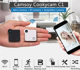 Wholesale Mini Sports Cam - HD 720P WiFi Mini DV Camera Micro Outdoor Indoor Sports DVR Motion Detection Wireless Spy Hidden Camera P2P IP Security Spy Cam C1