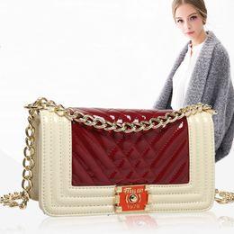 Donna Pacchetto donna lusso cross body borse sconto nuovo borsone kawaii borsa moda antifurto zaino pacchetto catena Rhombus da catene antifurto fornitori