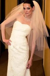 1,5 m gaze nouveaux accessoires de robe de mariée de voile de mariage blanc ivoire et peigne ? partir de fabricateur