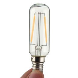 Wholesale light hood - Vintage Edison Bulb E14 LED Light T25 3W 300 Lumen Cooker Hood Filament Lamp Extractor Fan Bulb Warm White White Lighting 110V 220V