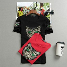 Wholesale Red Shirt Guy - The spirit of social guy short sleeved 2018 slim half sleeve T-shirt in summer. Net with a deft red tide male shirt