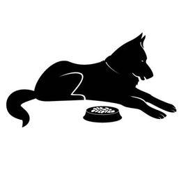 etiquetas do alimento Desconto Teste padrão animal de encontro do decalque do corpo animal do carro do vinil da etiqueta do carro do alimento do cão