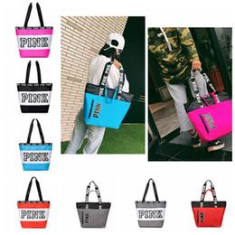 Wholesale Girls Shops - Pink Letter Handbags Styles Women Shoulder Bags Love Pink Shopping Bag Handbag Secret Travel Duffle Bags Beach Bag 9 color KKA4095