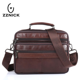 ZZNICK Men messenger bags luxury genuine leather men bag designer high  quality shoulder bag casual zipper office bags for men S914 cb4b7dc51f7d5