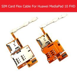 huawei carte unique Promotion Vente en gros - Double câble de carte Sim simple pour Huawei MediaPad 10 FHD S10-101 Puissance Volume Lecteur de carte mémoire Slot Flex remplacement