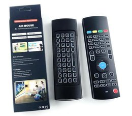 Wholesale ir learning remote - X8 Backlight MX3 Mini Keyboard With IR Learning Qwerty 2.4G Wireless Remote Control 6Axis Fly Air Mouse Backlit Gampad For Android TV Box i8