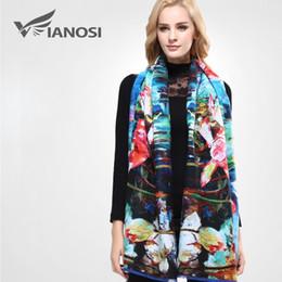 Wholesale Cashmere Ponchos For Women - [VIANOSI] Brand Woman Scarf Warm Cashmere Wool Poncho Printing Winter Bufanda Fashion Shawls and Scarves For Women VA059