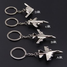 2019 anelli portachiavi HOMOD Nuovo F-16 Fighter Model Keychain B-2 Bomber Aereo Aircraft Air Plane Portachiavi Keyring Key sconti anelli portachiavi