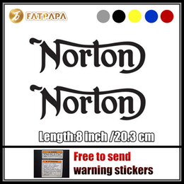 Wholesale Notebook Body - motorcycle bike Fuel tank Wheels Fairing notebook Luggage helmet MOTO Sticker decals For Norton Motorcycle LOGO