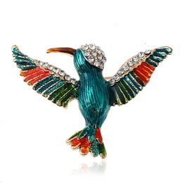 Wholesale Wholesale Jewelry Supply China - European and American popular Chinese wind jewelry high-end temperament woodpecker Cloisonne pin brooch brooch pin supply alloy