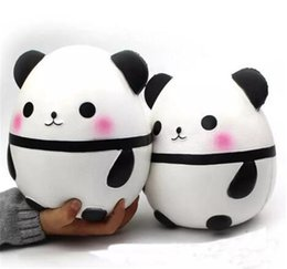 Wholesale egg prop - Panda egg Squishy Jumbo Cute Panda Kawaii Cream Scented Kids Toys Doll Gift Fun Collection Stress Relief Toy Hop Props 2018 hot