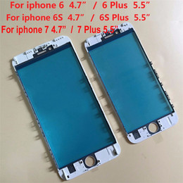 Wholesale Outer Frame - Cold Press 3 In 1 Front Glass With Frame OCA Assembly For Iphone 6 plus 6s plus 7 plus 8 8p Outer Glass
