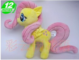 Wholesale Teddy For Sale - 2016 Hot Sale Movies & TV 32cm Fluttershy plush doll horse toy for birthday gift High Quality