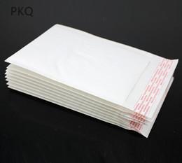 2019 saco de cosmético plano 100 p cs / lote Branco Kraft Bolha Mailers Acolchoados Envelopes Sacos De Transporte Auto Selo de Alta Qualidade Escola de Negócios Suprimentos de Escritório