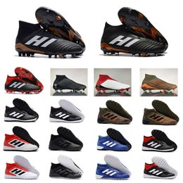 Wholesale Soccer Shoes Predator - 2018 Top Quality Falcon Predator 18.1 FG Football Boots Predator Tango 18.3 IC TF Soccer Shoes Mens Indoor Outdoor Soccer Cleats