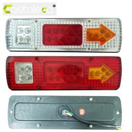 Wholesale Truck Led Brake Light - 19 LED Caravan Lighting Trailer Truck Light Caravan Truck Tail Light Turn Signal Reverse Brake Rear Lamp 12V 24V